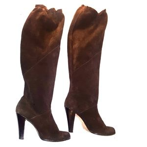 MICHAEL Michael Kors suede leather knee high boots